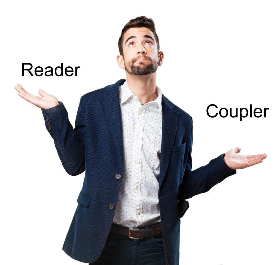 What is the difference between a reader and a coupler ?